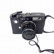 A Leica Leitz Wetzlar CL camera. Serial No. 1820888. With an Ernst Leitz We