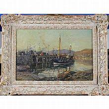 Royle, Herbert 1870-1958 British AR, Mallaig Harbour. 11 x 15.75 ins., (28