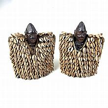 Tribal Art: A fine African pair of Ibeji male and female figures, Yoruba pe