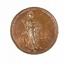 A British George IV, Duke of Clarence, Lord High Admiral, Bronze Medal by J