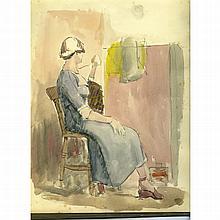 Palmer, Rozanne Twentieth Century British AR, Examination of Art 1951 Sketc