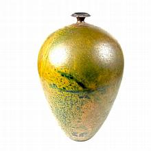Andrew Hill studio pottery vase. Of ovoid form, the exterior decorated with