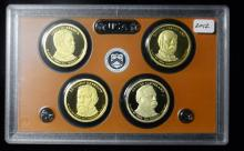 2012 S United States Proof Presidential Dollar Set
