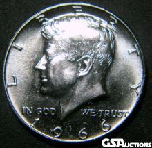 1966 Special Mint 40% Silver Kennedy Half