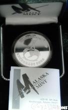 2000 Alaska Mint Medallion Millennium at the top , 1 oz. .999 Fine Silver Round