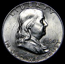 1960 Ben Franklin Silver Half Dollar Uncirculated