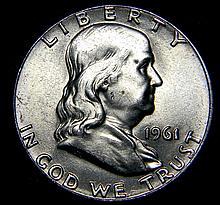 1961 Ben Franklin Silver Half Dollar Uncirculated