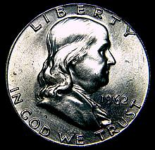 1962 Ben Franklin Silver Half Dollar Uncirculated