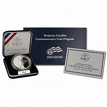 2006 Proof Ben Franklin Scientist Commemorative Silver Dollar