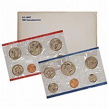 1981 P,D,S US Mint Uncirculated Mint Set