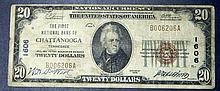 1929 $20 Twenty Dollar National Currency 1606