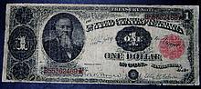 Rare Series 1891 $1 One Dollar Treasury Note