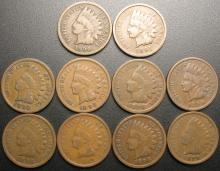 Set of Indian Head Cents all dates from 1890-1899