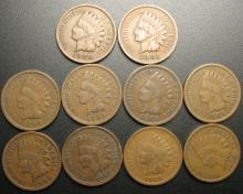 Set of Indian Head Cents all dates from 1900-1909