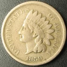 1859 Indian Head Cent, Copper-Nickel, Full LIBERTY