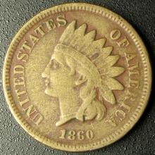 1860 Indian Head Cent, Copper-Nickel, Full LIBERTY