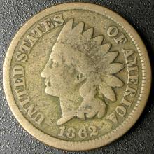 1862 Indian Head Cent, Copper-Nickel, Civil War Coin