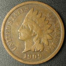 1909 Indian Head Cent, Better Date, Last Year of Issue