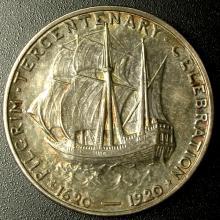 1920 Pilgrim Commemorative 50¢, Uncirculated Details