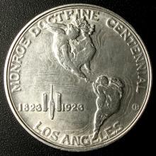 1923-S Monroe Doctrine Comm. 50¢, Full Details