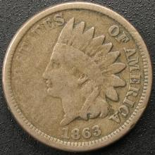 1863 Indian Head Cent, Copper-Nickel, Civil War Coin