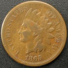 1865 Indian Head Cent, Fancy 5