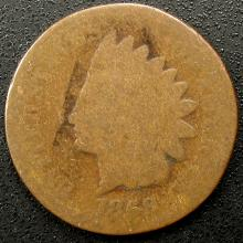 1869 Indian Head Cent, Scarce Date