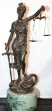 Andrea by Sadek Statue of Lady Justice with Marble