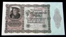 Series 1922 German 50,000 Mark  Reich bank Note