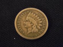 1862 Indian Head Cent -Civil War Year-