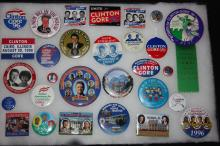 Collection Of 29 Political Campaign Buttons  Bill Clinton And Al Gore