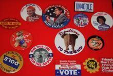 Collection Of 14 Campaign Buttons 1996 Bob Dole For President