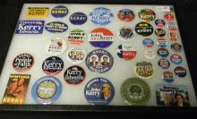 Collection Of 40 Campaign Buttons John Kerry 2004