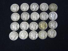 20 Mercury Dimes