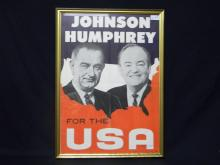 1964 Johnson & Humphrey Campaign Poster