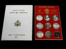 Set Of 9, 1995 Souvenir Citta Del Vaticano