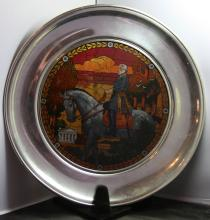 Robert E Lee US Historical Society Jefferson Pewter No 2002 Plate
