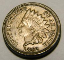 1863 CN - Civil War Year - Indian Head Cent Full Liberty