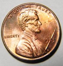 1983 Error Speared Lincoln & Date Variety Gem Unc.