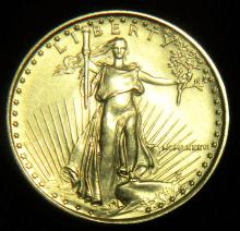 1986 Brilliant Uncirculated 1/10th Oz. American $5 Gold Eagle .999 1st Year