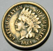 1861 CN - Civil War Year - Indian Head Cent Better Date