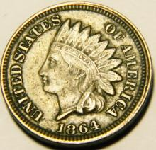 1864 CN - Civil War Year - Indian Head Cent VF Details