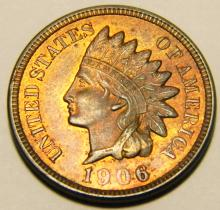 1906 Indian Head Cent,Red Brown Uncirculated Details