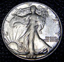 1917 Walking Liberty Half Dollar High Grade Coin