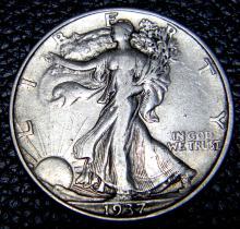 1937 Walking Liberty Half Dollar High Grade