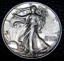 1934 Walking Liberty Half Dollar High Grade