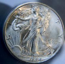 1934 Walking Liberty Half Dollar ICG Certified MS64