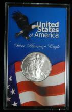 1996 United States American Silver Eagle, 1oz .999 Fine Sliver