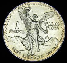 1984 Mexico 1 oz. Silver Round