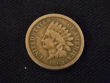 1862 Indian Head Cent -Civil War Year-